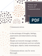 Nature and Process of Communication