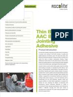 Ascolite block adhesive