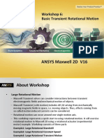 transient analysis using Ansys maxwell