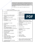 List of Acceptable Qualifications for Certifying Documents