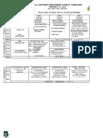 43rd Jamboree Schedule of Activities