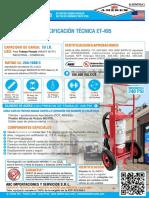 Ficha Tecnica Extintor Amerex PQS ABC 50 Libras Modelo 495 13 de Mayo 2017 JW