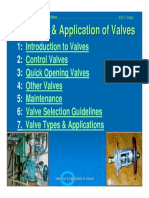 8-BSB - Selection & Applications of Valves