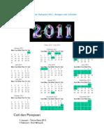 Kalendar Malaysia 2011 Dengan Cuti Sekolah