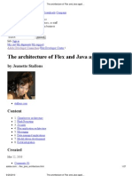 The Architecture of Flex and Java Applications