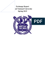 Exchange Student Report for Seoul National University