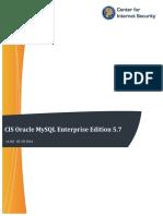 CIS Oracle MySQL Enterprise Edition 5.7 Benchmark v1.0.0