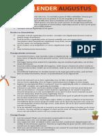 Betaalbaarshoppen.nl - Tuinkalender Checklist Augustus