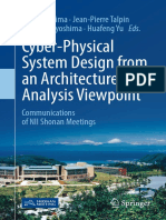 Cyber Physical System Design From an Architecture Analysis Viewpoint Book of 2017 Year