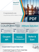 Coupomated Coupon Data Feed & Coupon Cashback Website Development