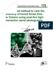 A Proposed Method to Rank the Intensity of Boreal Forest Fires in Ontario Using Post-fire High-resolution Aerial Photographs