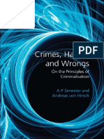 (Studies in Penal Theory and Penal Ethics) A.P. Simester, Andreas von Hirsch-Crimes, Harms, and Wrongs_ On the Principles of Criminalisation-Hart Publishing (2011).pdf