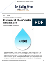 40 Percent of Dhaka's Water is Contaminated _ the Daily Star