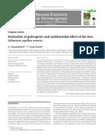 Evaluation of goitrogenic and antithyroidal effect of the fern Adiantum capillus-veneris
