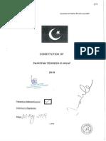 Constitution PTI - July 2019