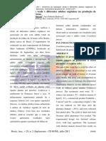 Influência da adubação verde e diferentes adubos orgânicos na produção de fitomassa aérea de atroveran.