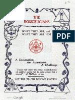 1928 Clymer Rosicrucians