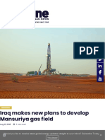 Iraq Makes New Plans to Develop Mansuriya Gas Field