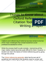 Cite Your Academic Paper With The Best Oxford Referencing Generator Tool For Free