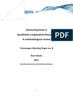 Generating Data in QL Research Timescapes Working Paper 8