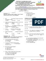 Soal dan Kunci Olimpiade Bahasa Inggris Siswa SMP SCE 2016.pdf