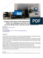Analysis of FOG Effect in Activated Sludge Process