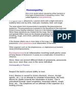 Pneumonia - Homeopathy
