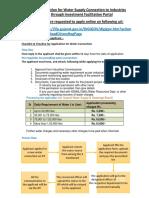 EoDB Checklist and Timeline GWSSB