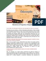 Cosmovisão e Educação - Respostas