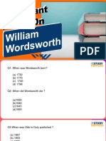 Important MCQs on Wordsworth