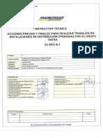 PDT acciones previas saesa
