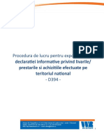 Procedura Lucru D394