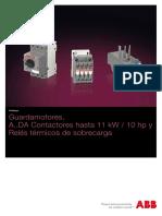 Guardamotores, contactores y reles termicos hasta 11 Kw