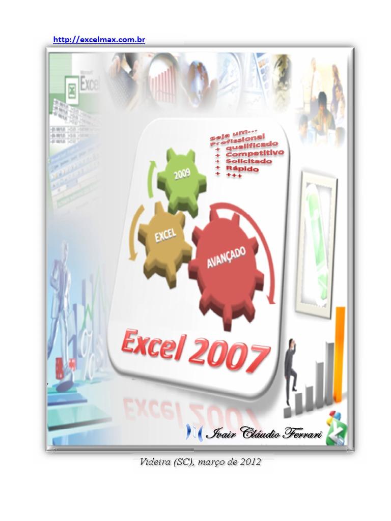 Excel Avançado 20   ICF   Original.pdf   Planilha   Microsoft Excel
