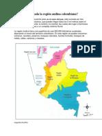 Donde Está Ubicada La Región Andina Colombiana