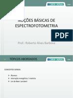 Noções Básicas de Espectrofotometria