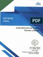 INFORME FINAL N° 107-2019 JUNTA NACIONAL DE AUXILIO ESCOLAR Y BECAS SOBRE AUDITORIA DE LOS SERVICIOS CONTRATADOS MEDIANTE LICITACIÓN - JULIO 2019