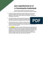 capacitaciones audiovisuales
