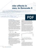 Second-Order Effects in Portal Frames to Eurocode 3
