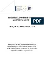 2019 2020 Competition Case Price Media Law Moot Court