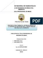 Proyecto de Investigación Del Travertino-chala Alta