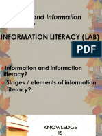 Information Literary (Media and Information Literacy)