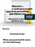 Health 6 Topic  HEALTH APPRAISAL.pptx