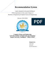 Project Report on Recommendation System