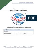 AC-0100 Level 5 Programme Accreditation Application