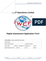 AC-0084 Digital Assessment Application Form