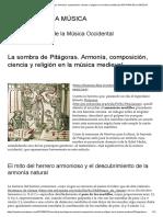 La Sombra de Pitágoras. Armonía, Composición, Ciencia y Religión en La Música Medieval _ HISTORIA de LA MÚSICA