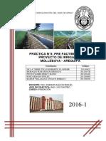 Prefactibilidad Proyecto de Irrigacion Mollebaya - Arequipa