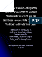 2008 RMS-AAPG Evidence for a Variable Archie Porosity Exponent
