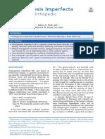 Osteogenesis Imperfecta - A Pediatric Orthopedic Perspective.